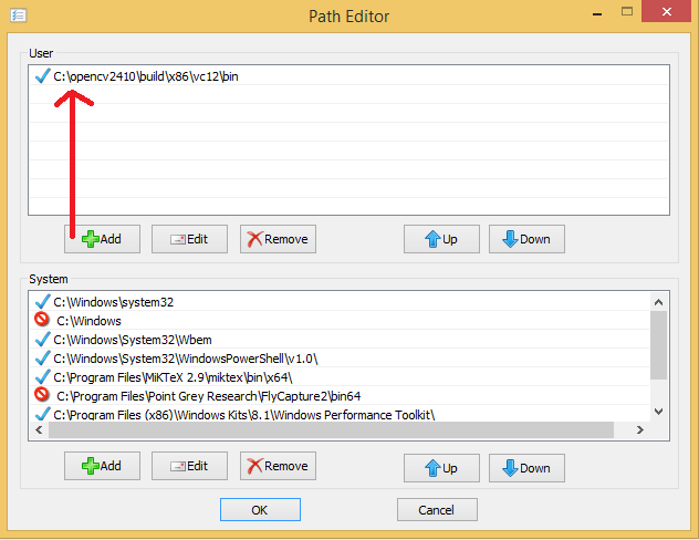 Install OpenCV 2 4 10 and use it in MSVC 2013 and Qt 5 4 0