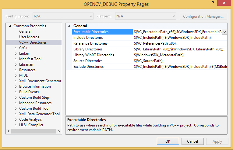 Install OpenCV 2 4 10 and use it in MSVC 2013 and Qt 5 4 0 of